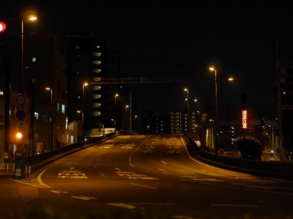 深夜の陸橋