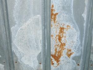 サビの浮いた鉄板
