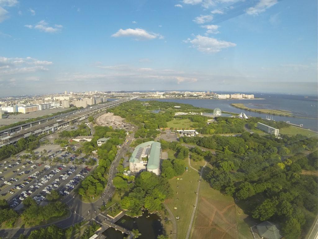 高所からの東京湾