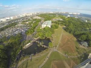 高所からの臨海公園