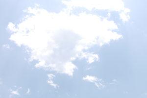 夏の青空と大きな雲