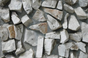 石が敷き詰められた壁