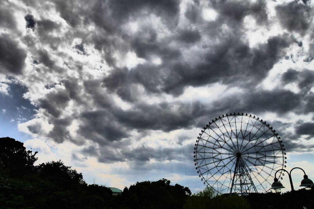 ホラー映画のような雲