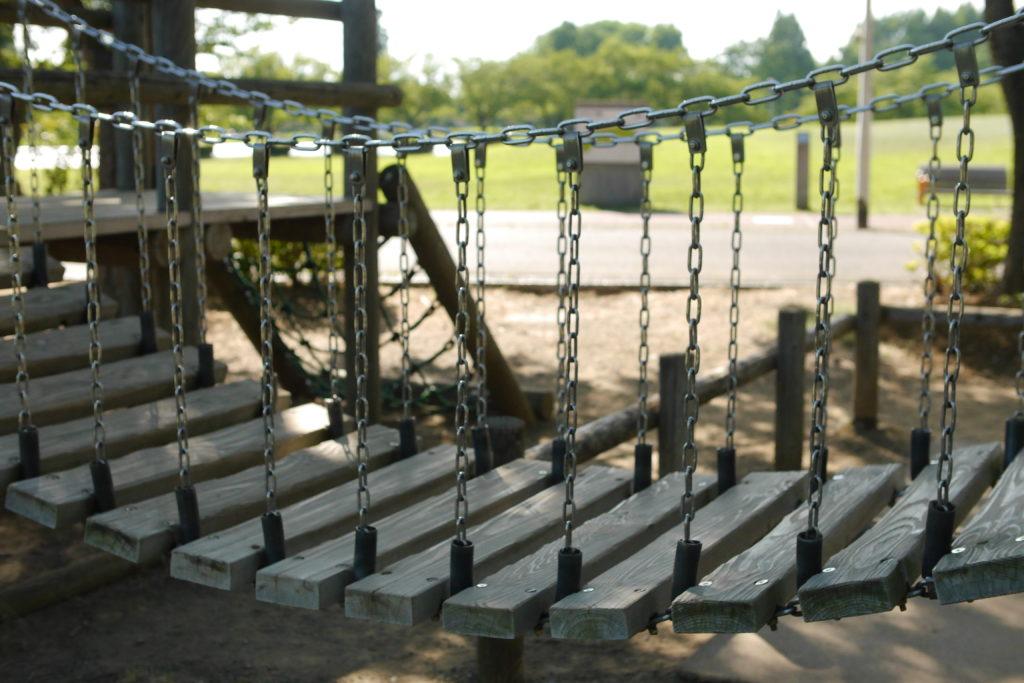 アスレチックの吊り橋