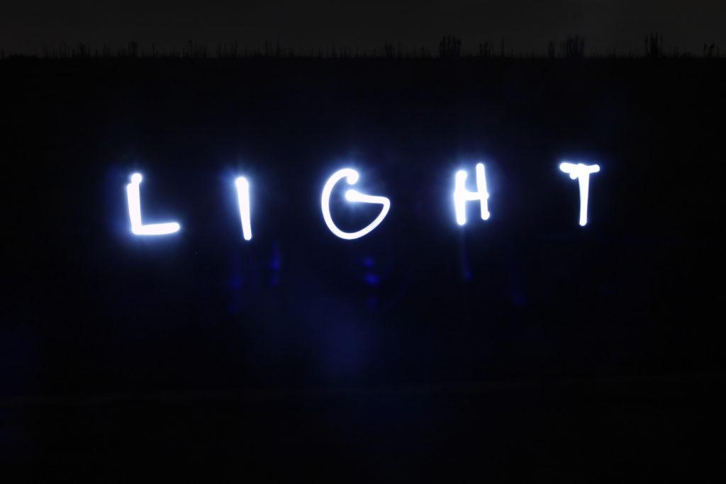 ライトでバブル撮影