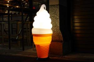 店頭のソフトクリーム